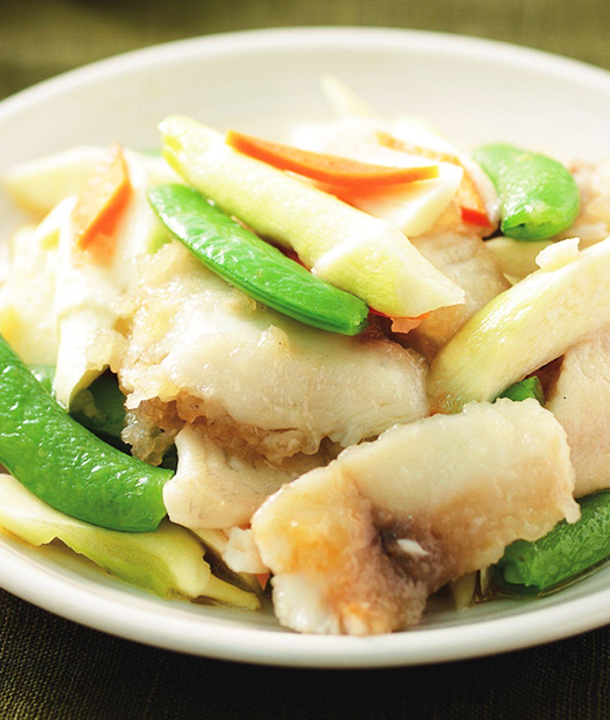食譜:美人腿炒魚片