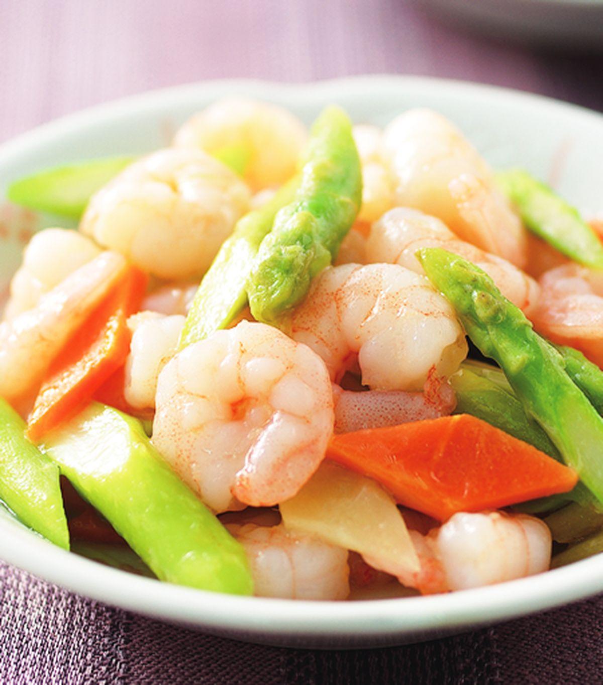 食譜:蘆筍炒蝦仁(1)