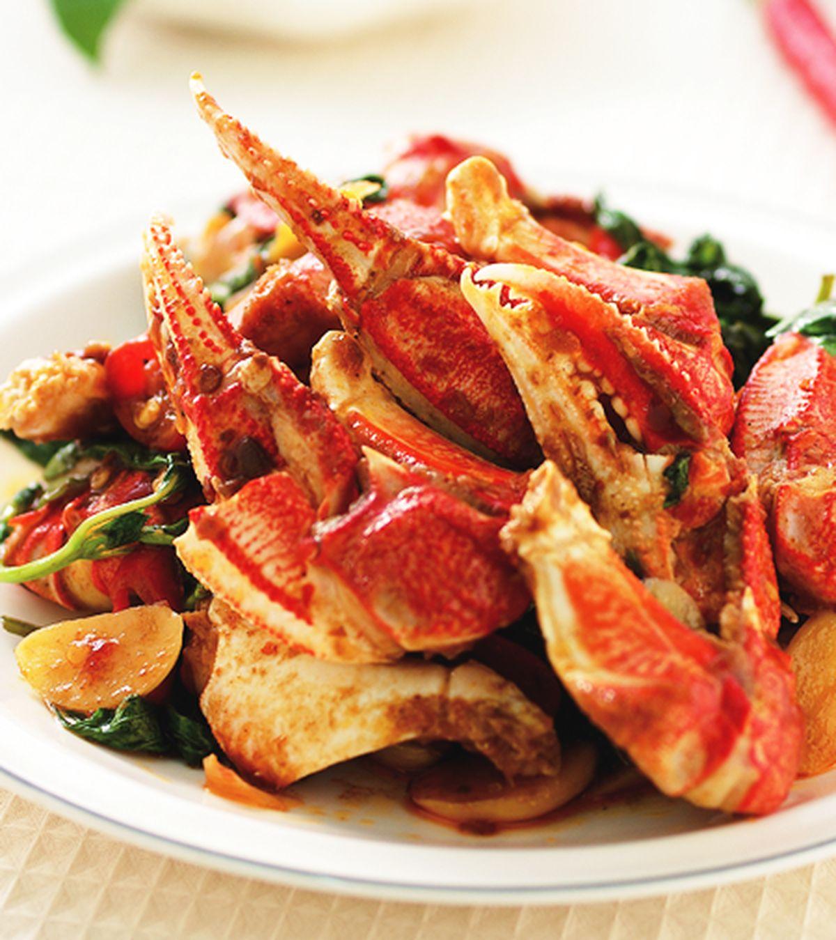 食譜:辣油炒蟹腳(1)