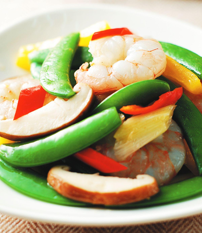 食譜:甜豆炒蝦仁