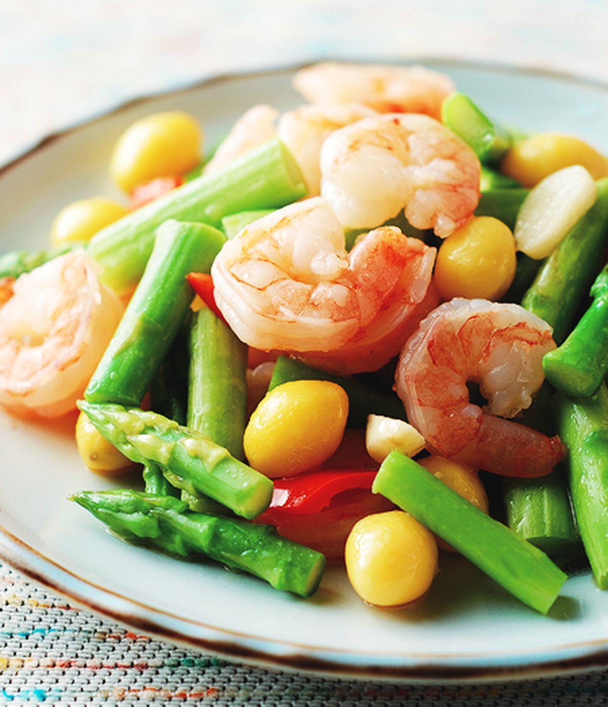 食譜:百果蘆筍蝦仁