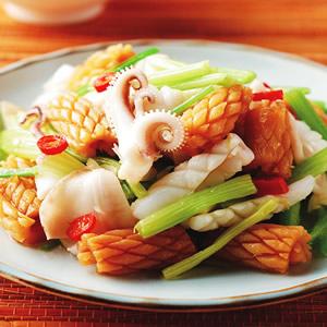 芹菜炒雙魷