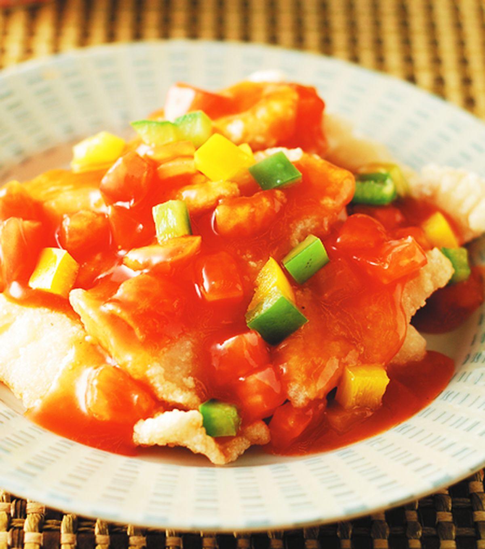 食譜:茄汁鯛魚片(1)