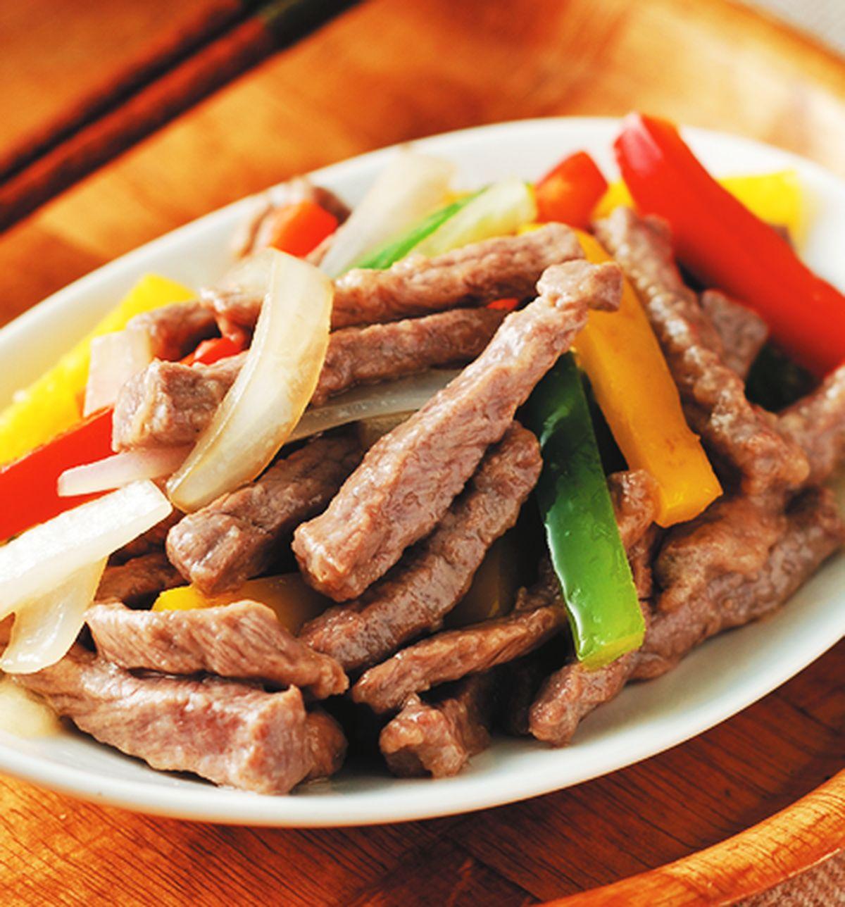 食譜:五彩牛柳(1)
