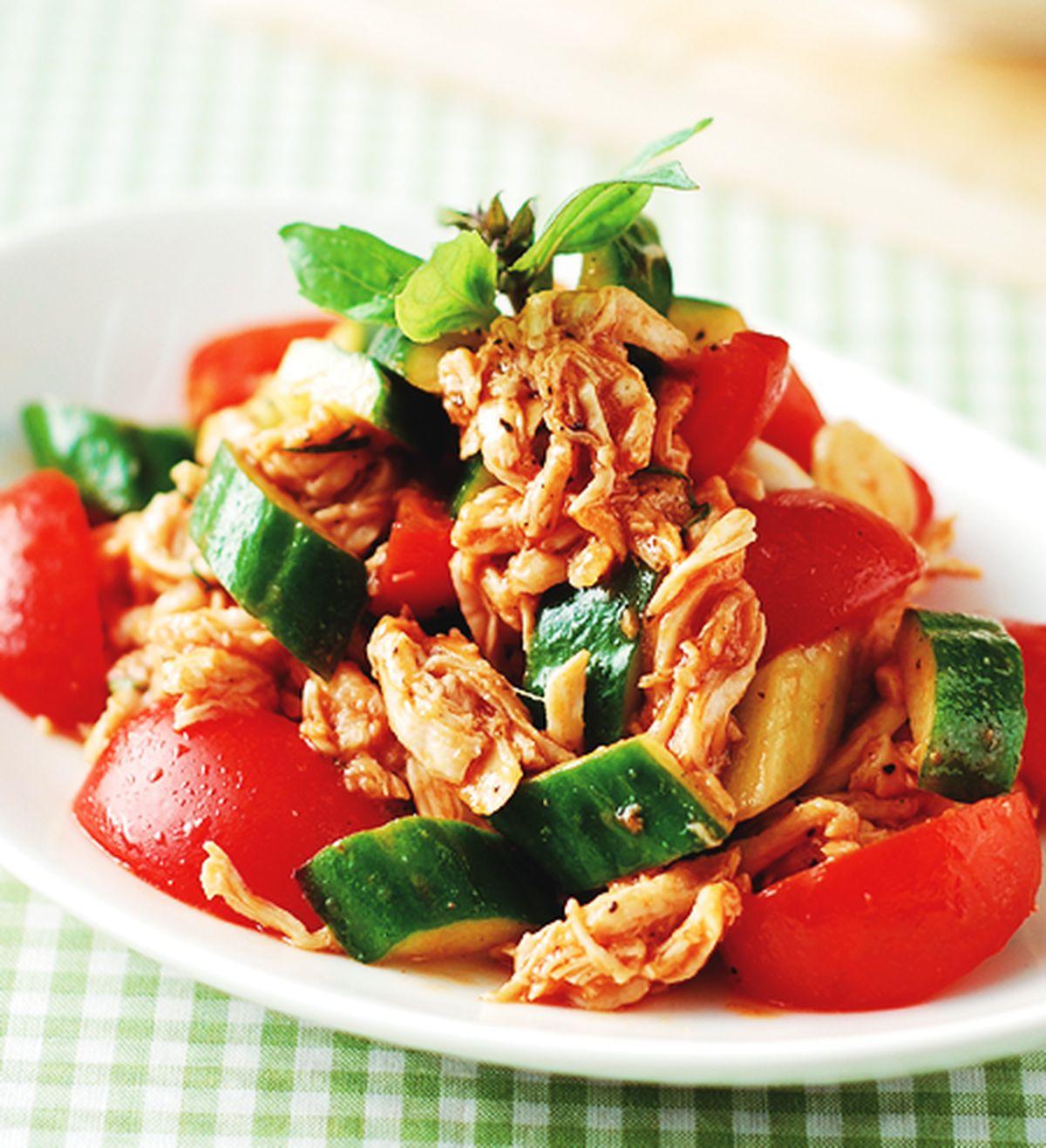 食譜:蕃茄拌雞絲