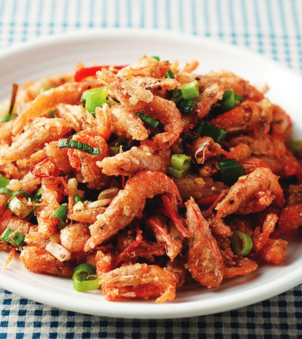 食譜:蔥炸溪蝦