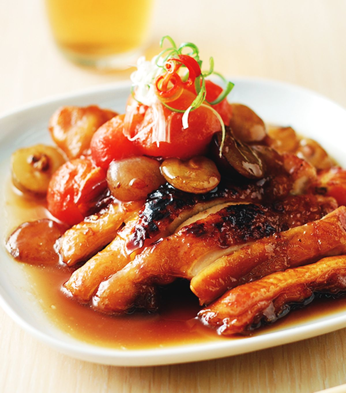 食譜:照燒葡萄雞
