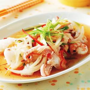 泰式春捲醬拌雙鮮