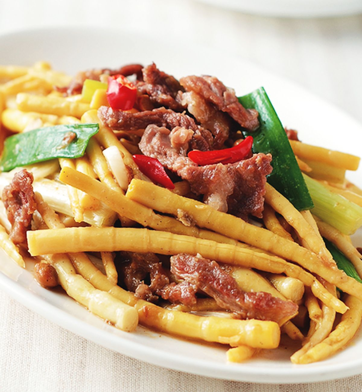 食譜:黃豆醬炒箭筍