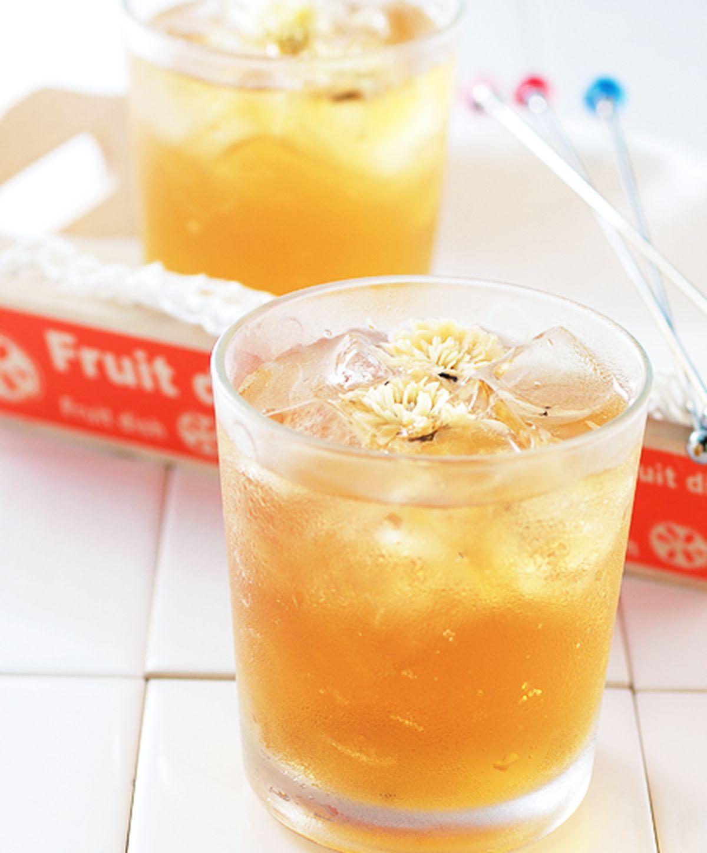 食譜:冰菊普洱茶