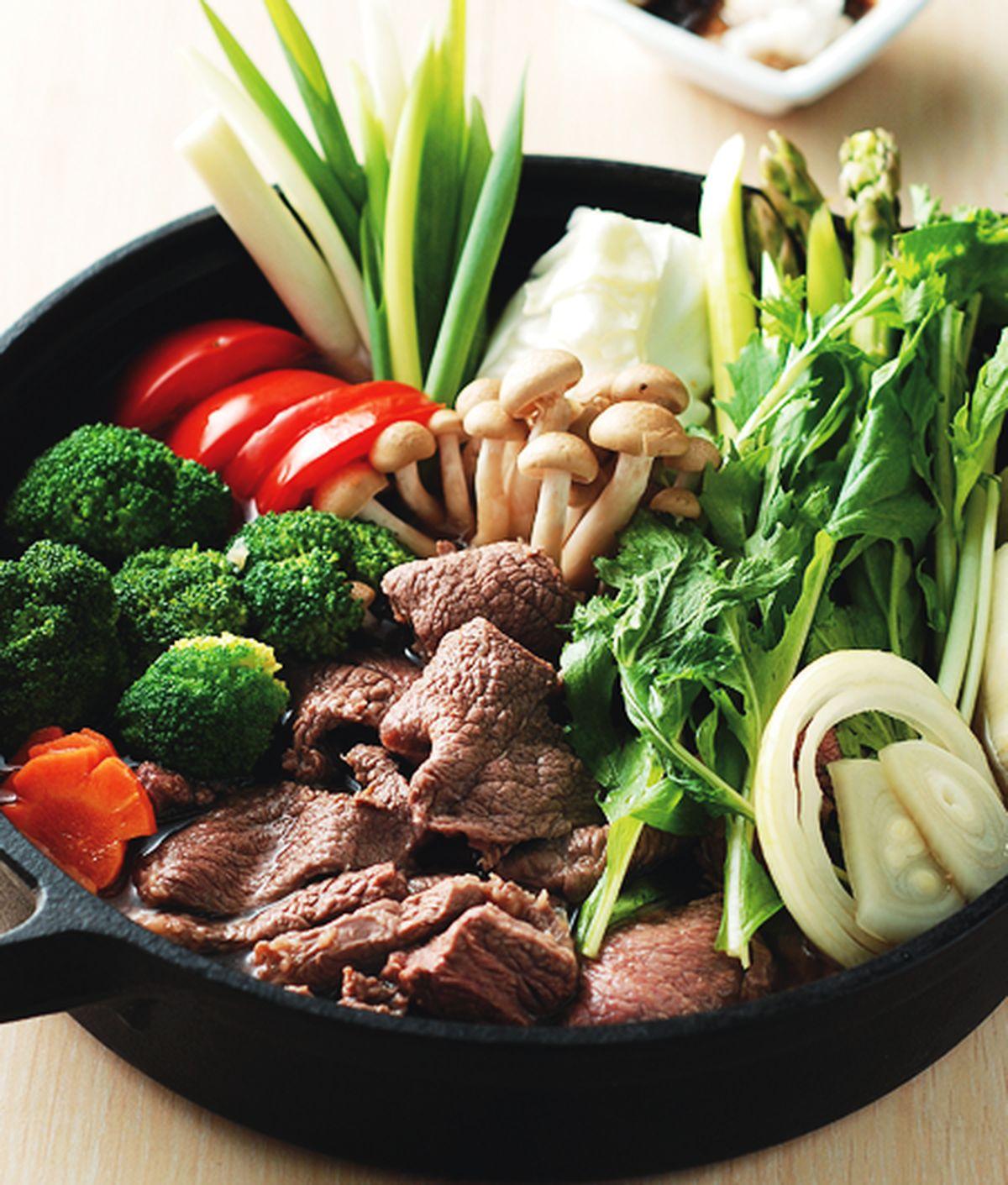 食譜:壽喜野菜鍋