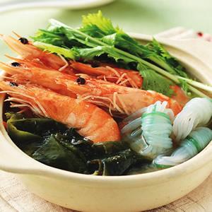 鮮蝦芽菜味噌鍋