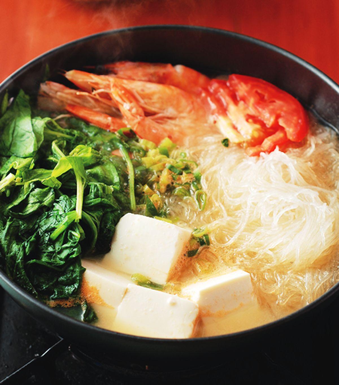 食譜:菠菜豆腐味噌鍋