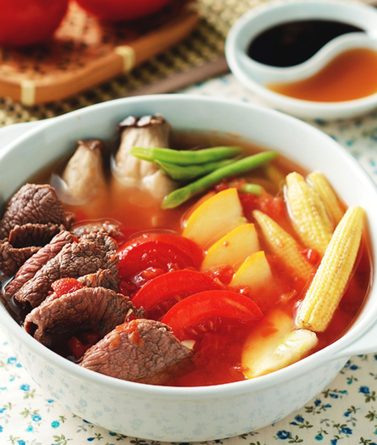 食譜:牛肉蕃茄蔬菜鍋