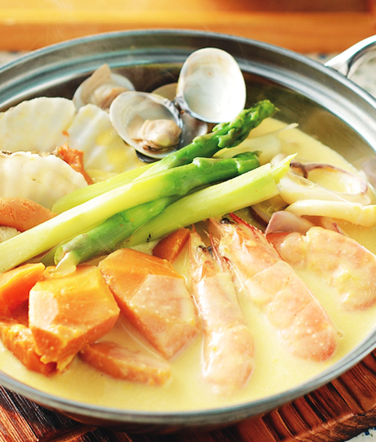 食譜:海鮮牛奶南瓜鍋