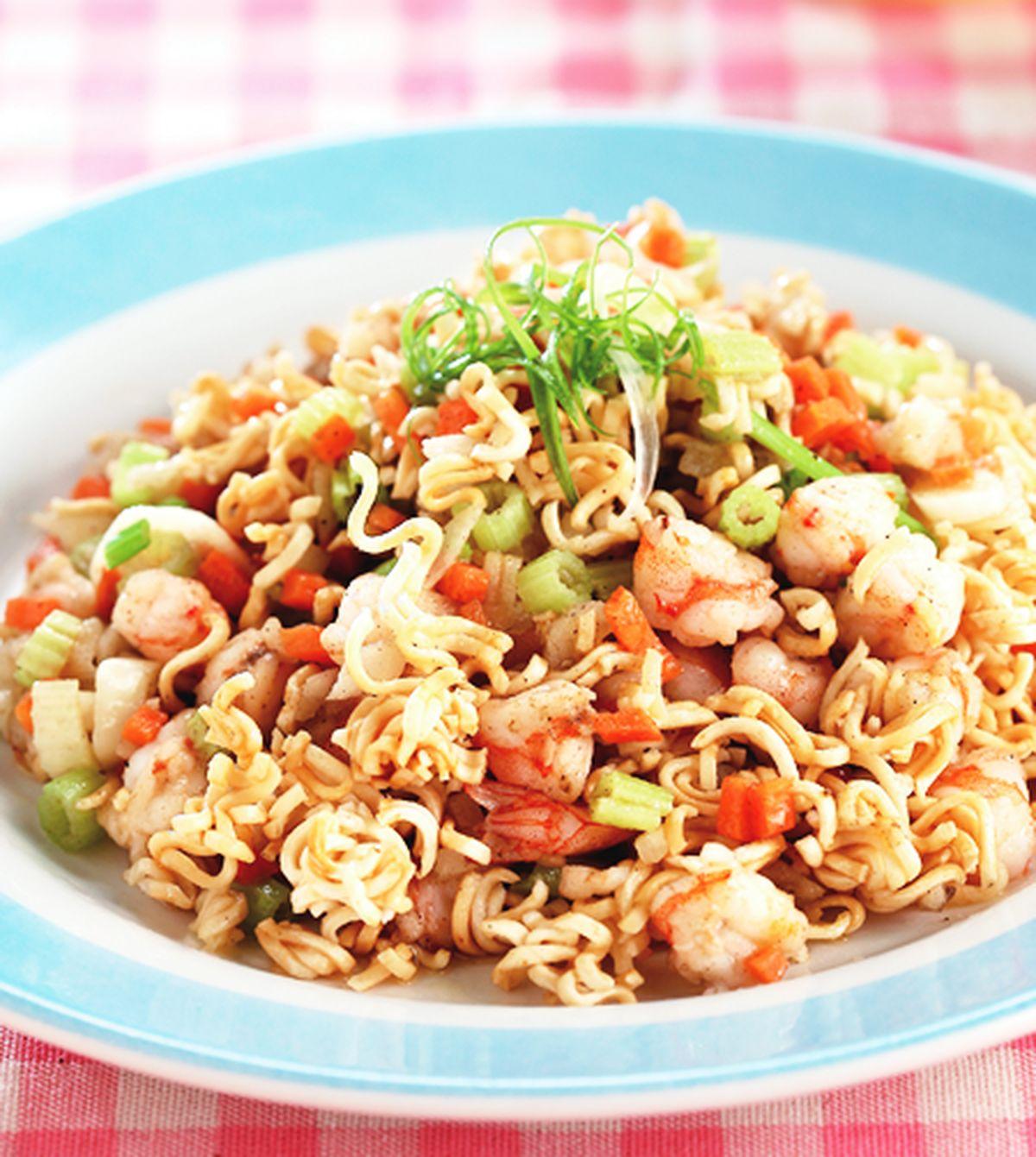 食譜:泡麵炒蝦鬆