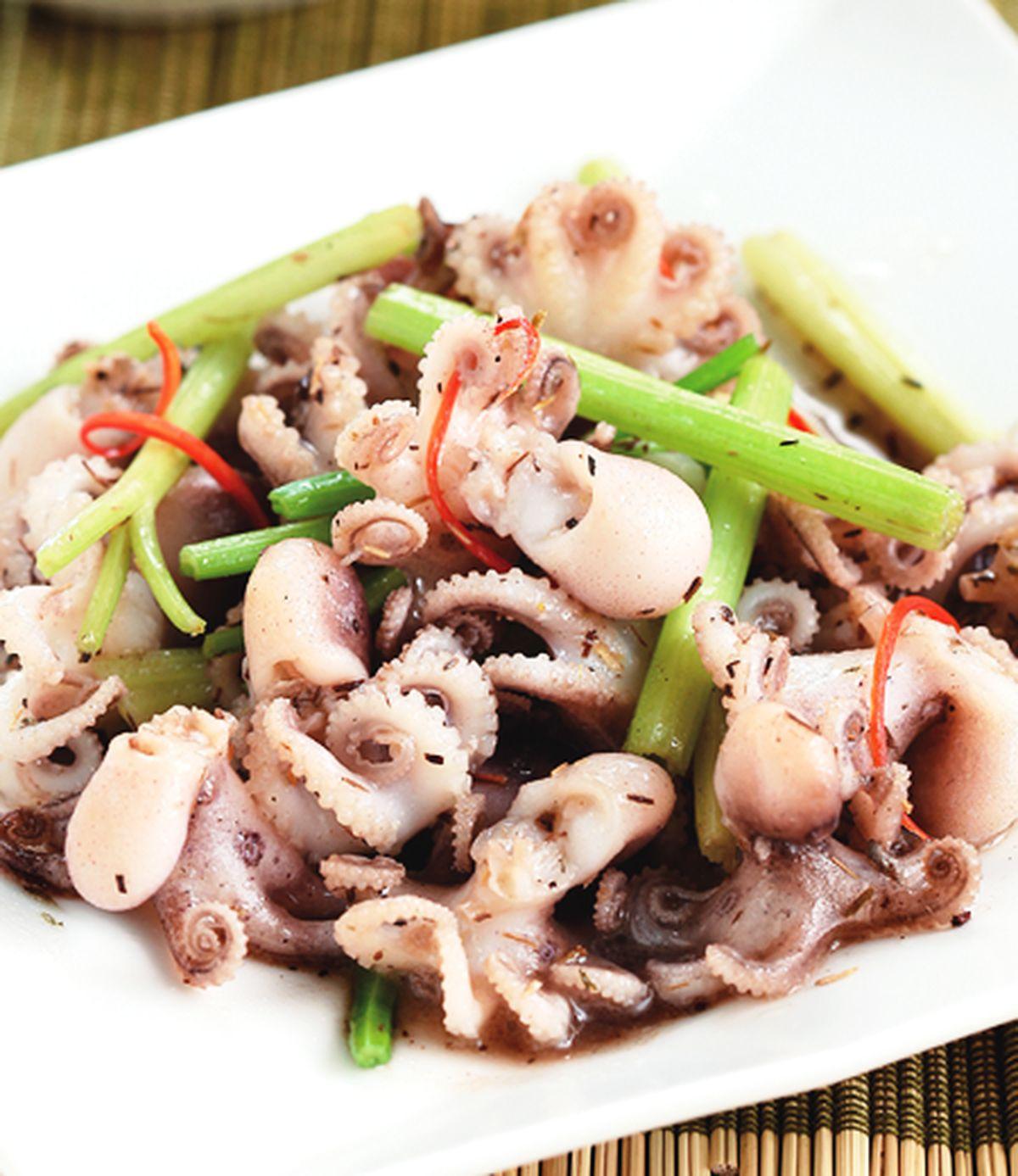 食譜:百里香炒小章魚