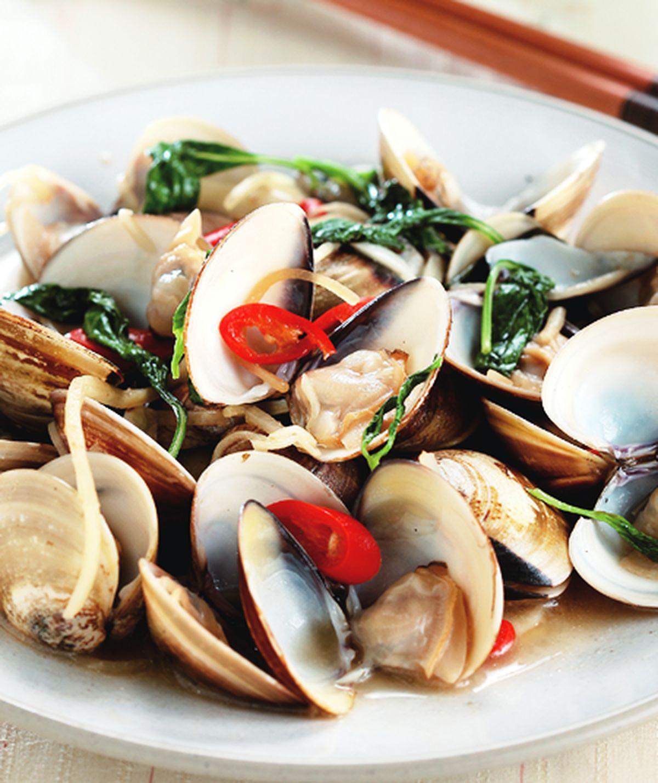 食譜:塔香炒蛤蜊(1)