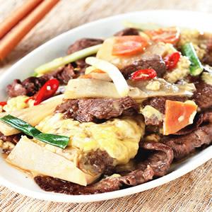 滑蛋炒牛肉