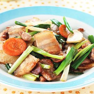 蔥薑清炒肉片