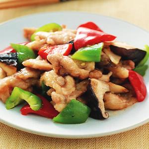 雙椒炒嫩雞