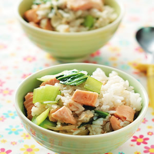鮭魚炒飯(4)