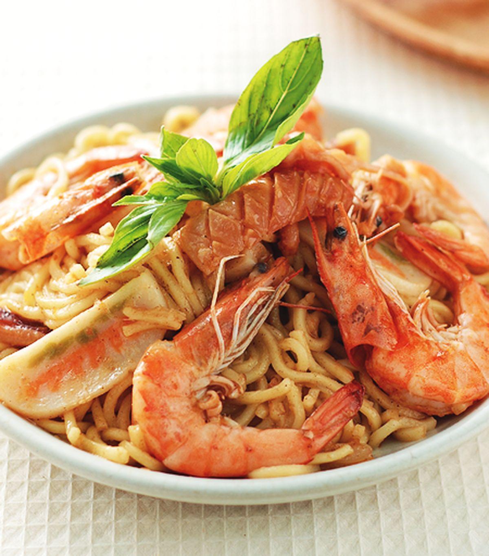 食譜:三鮮炒麵(1)