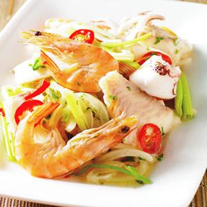 泰式涼拌海鮮(1)