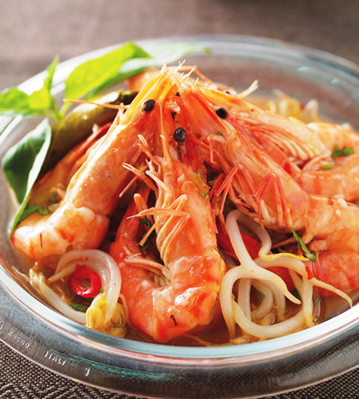 食譜:泰式銀芽開味蝦