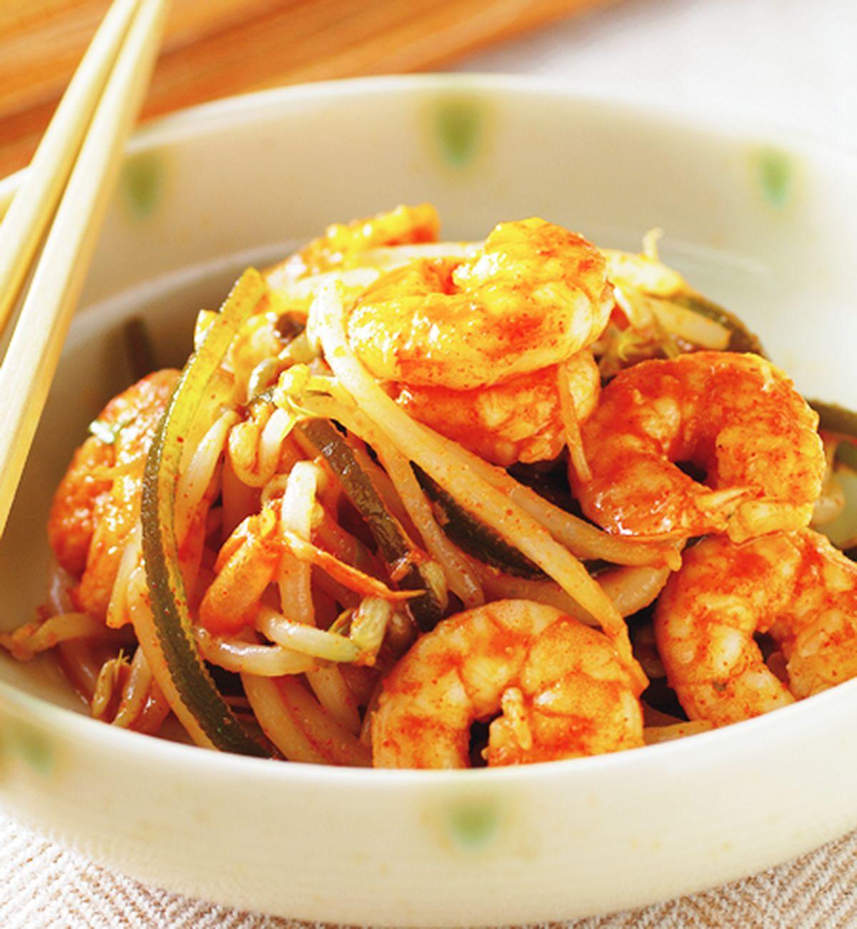 食譜:韓式辣醬拌鮮蝦