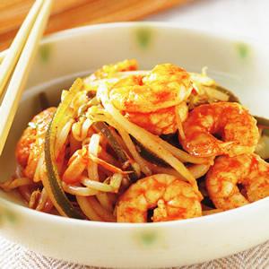 韓式辣醬拌鮮蝦
