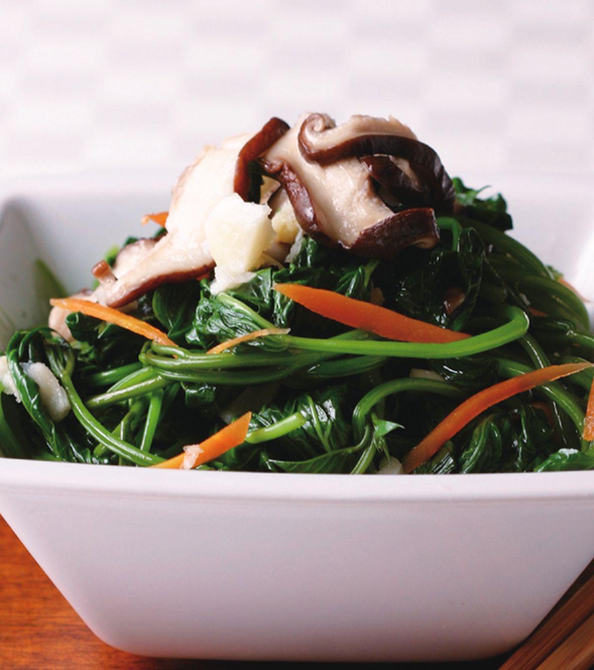 食譜:鮮菇地瓜葉