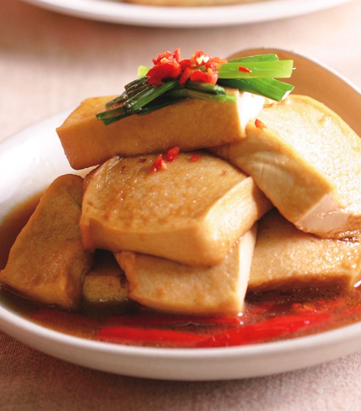 食譜:蔥燒豆腐(1)