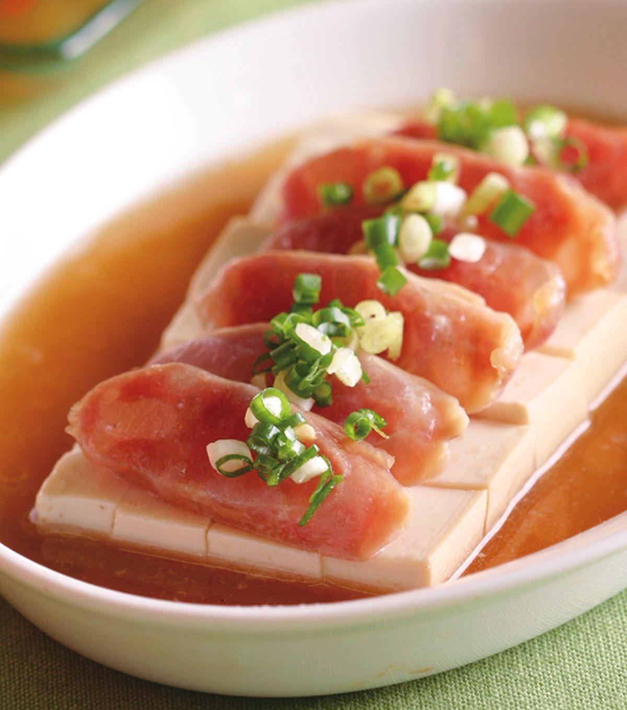食譜:臘腸蒸豆腐