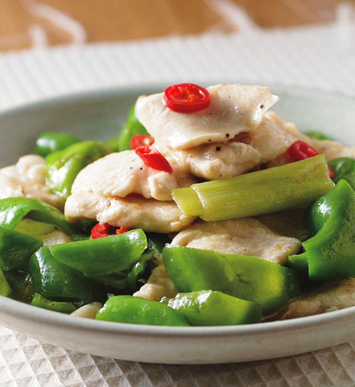 食譜:青椒炒嫩雞