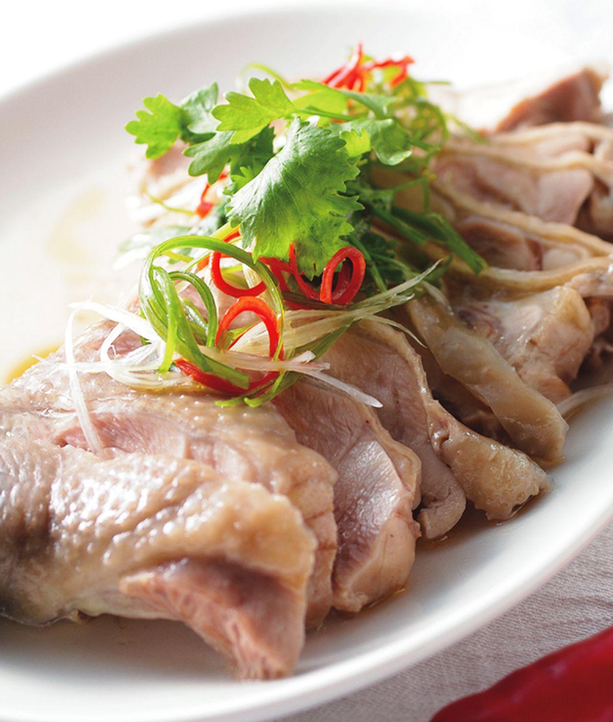 食譜:蔥油淋雞腿