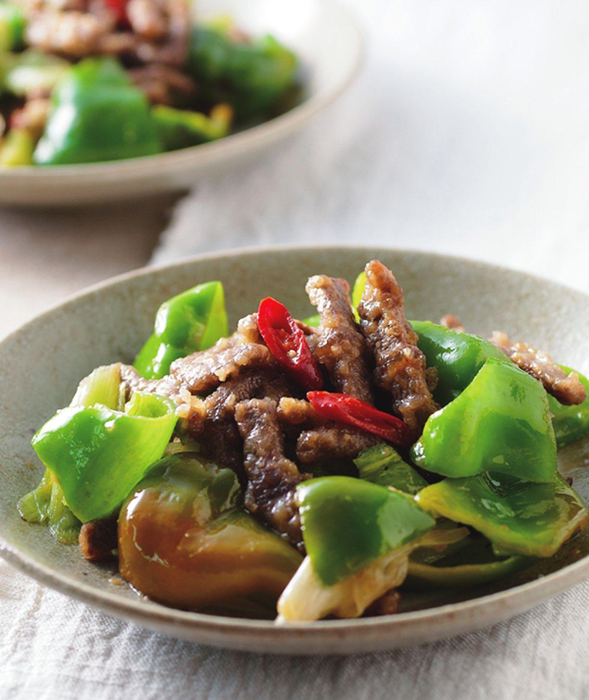 食譜:青椒炒牛肉(2)