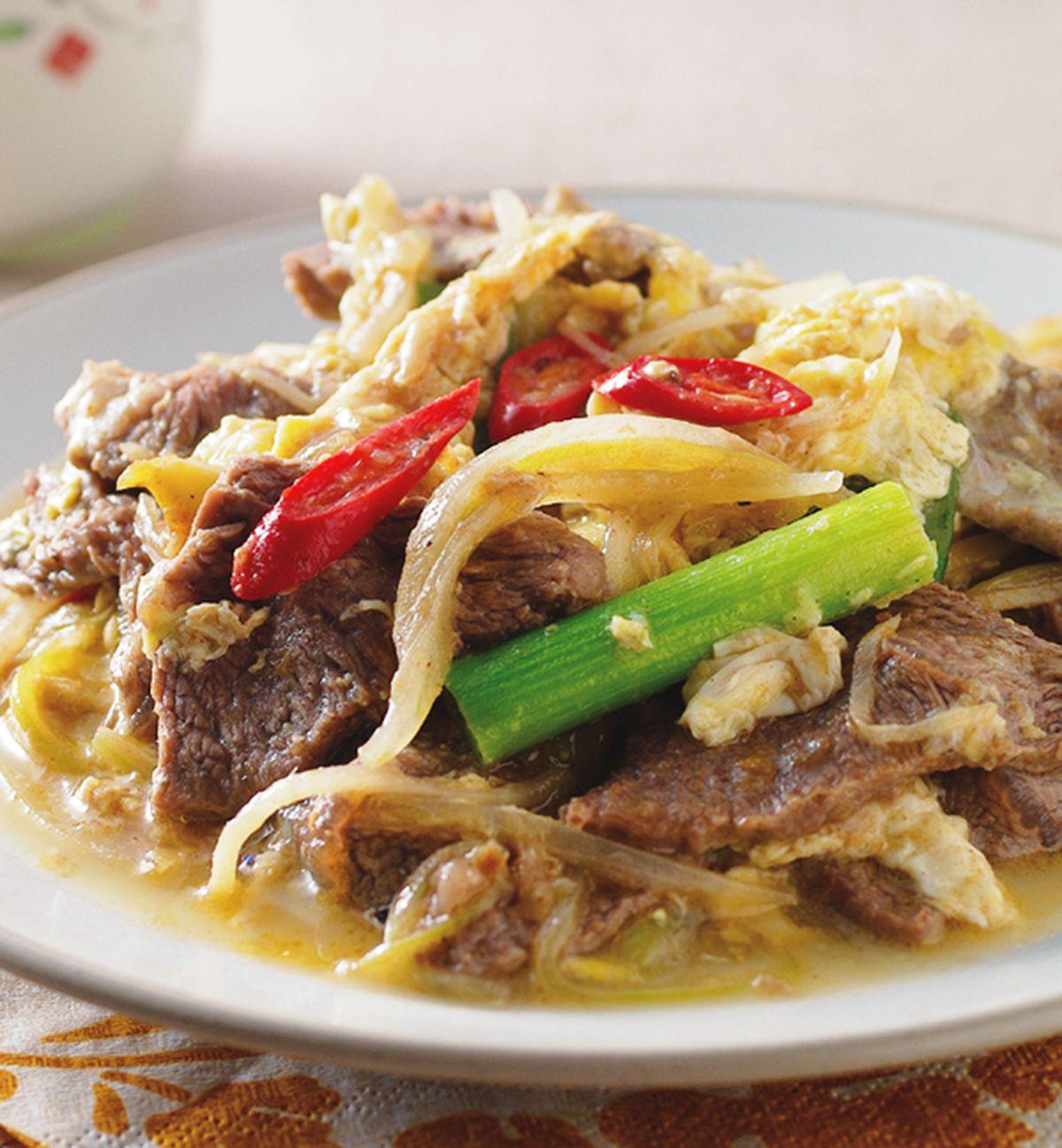 食譜:滑蛋牛肉片(1)