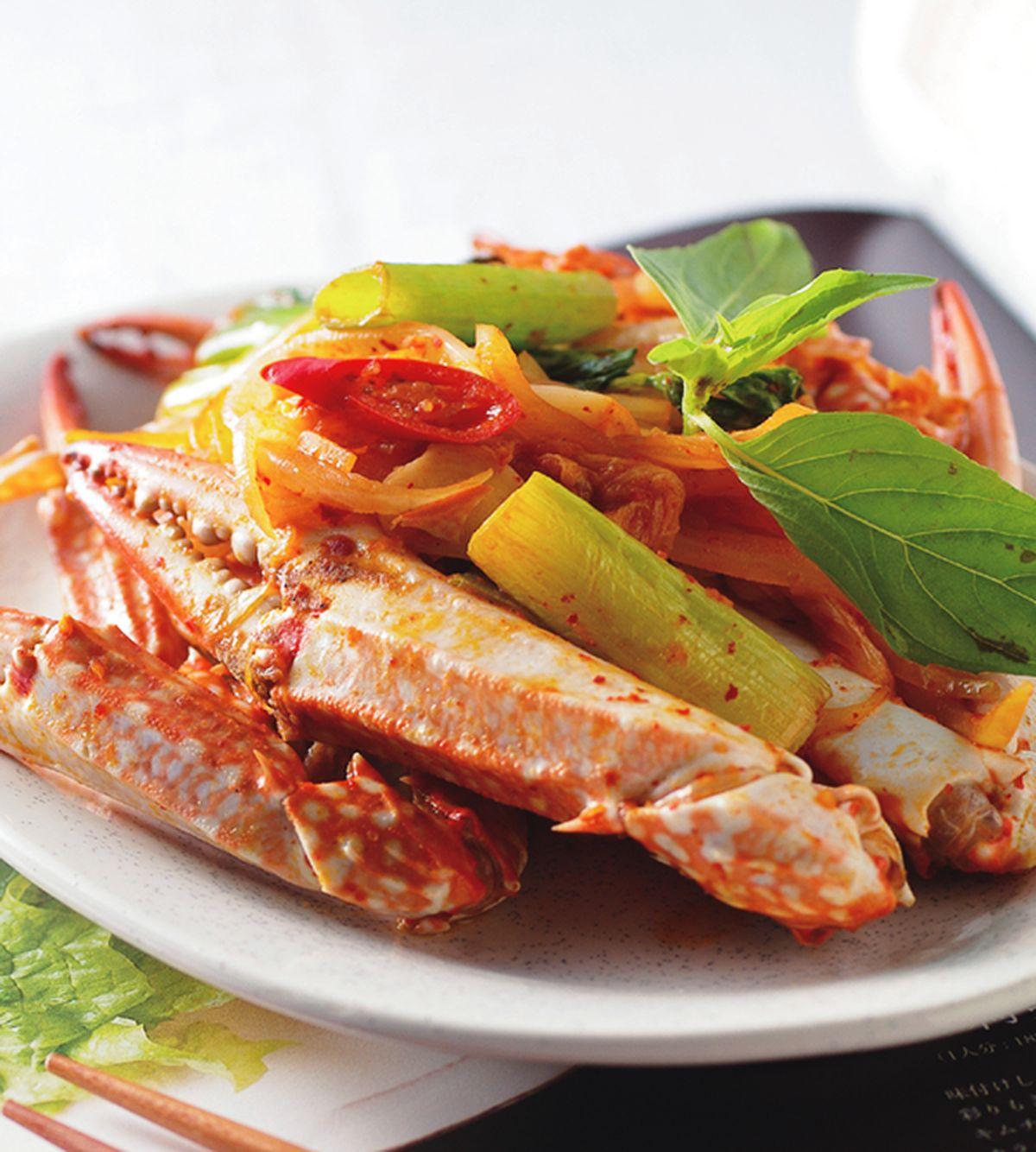 食譜:泡菜炒蟹腳