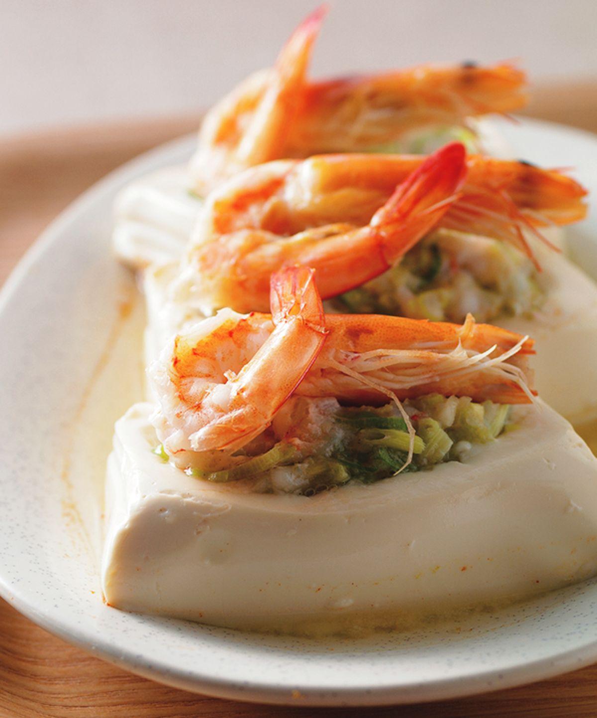 食譜:蝦泥蒸豆腐