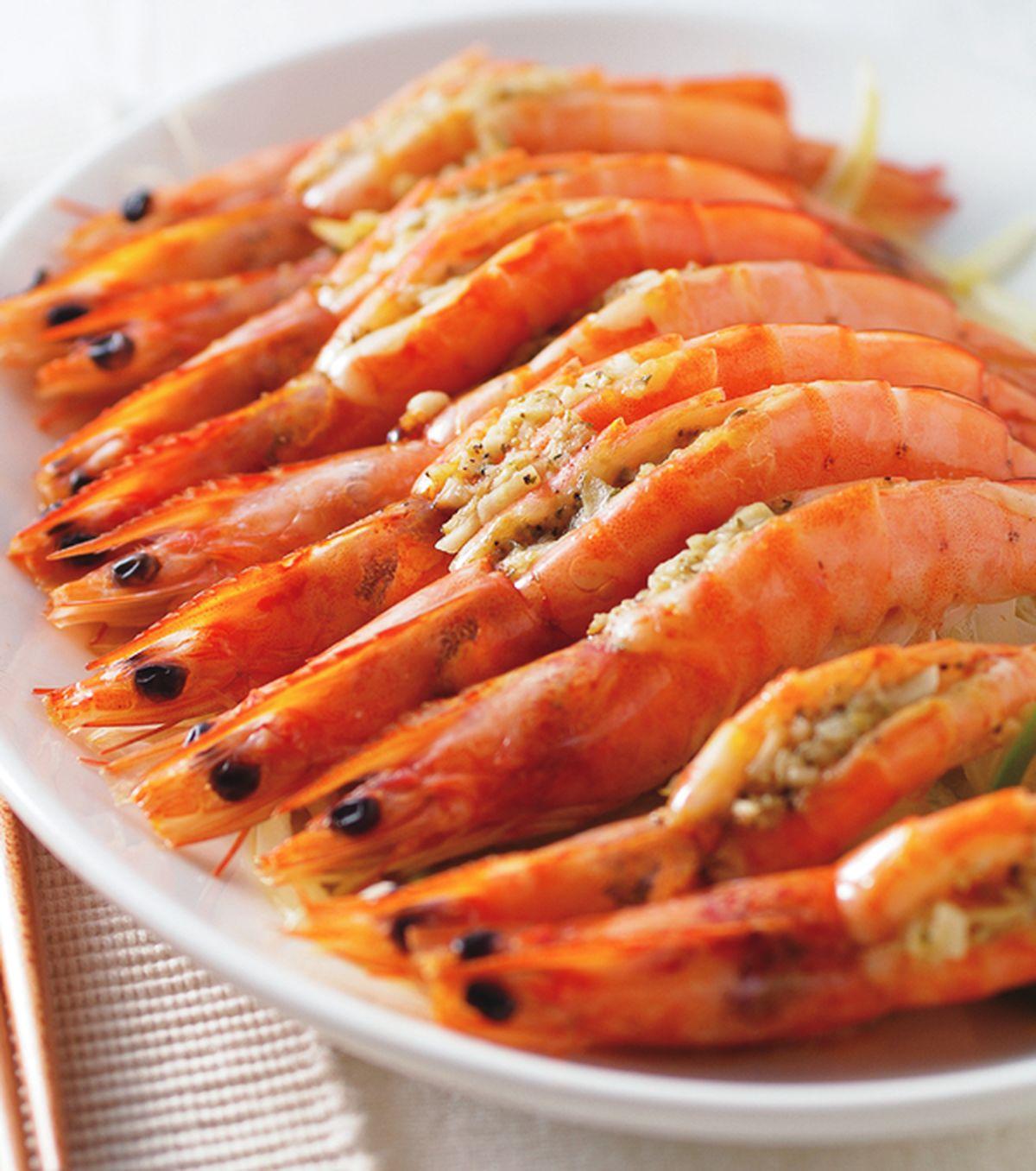 食譜:奶油蒜泥蒸鮮蝦