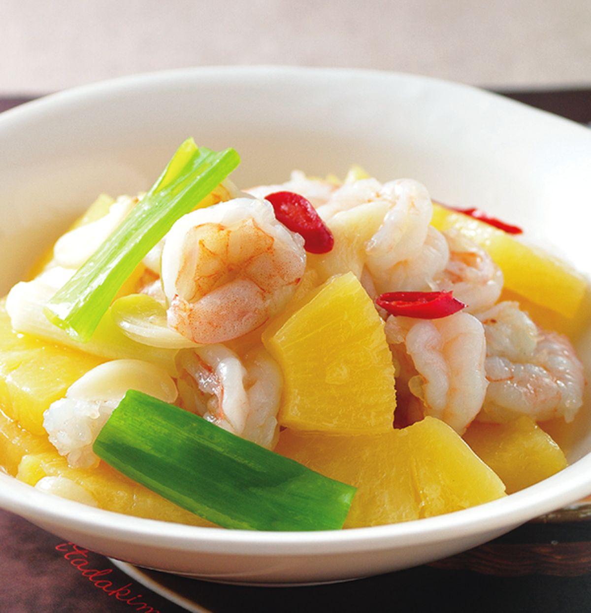 食譜:鳳梨炒蝦仁(1)