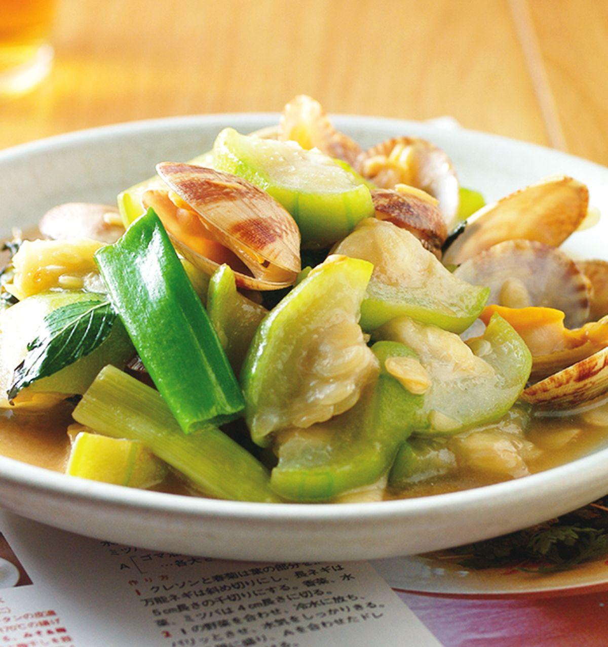 食譜:海瓜子炒絲瓜