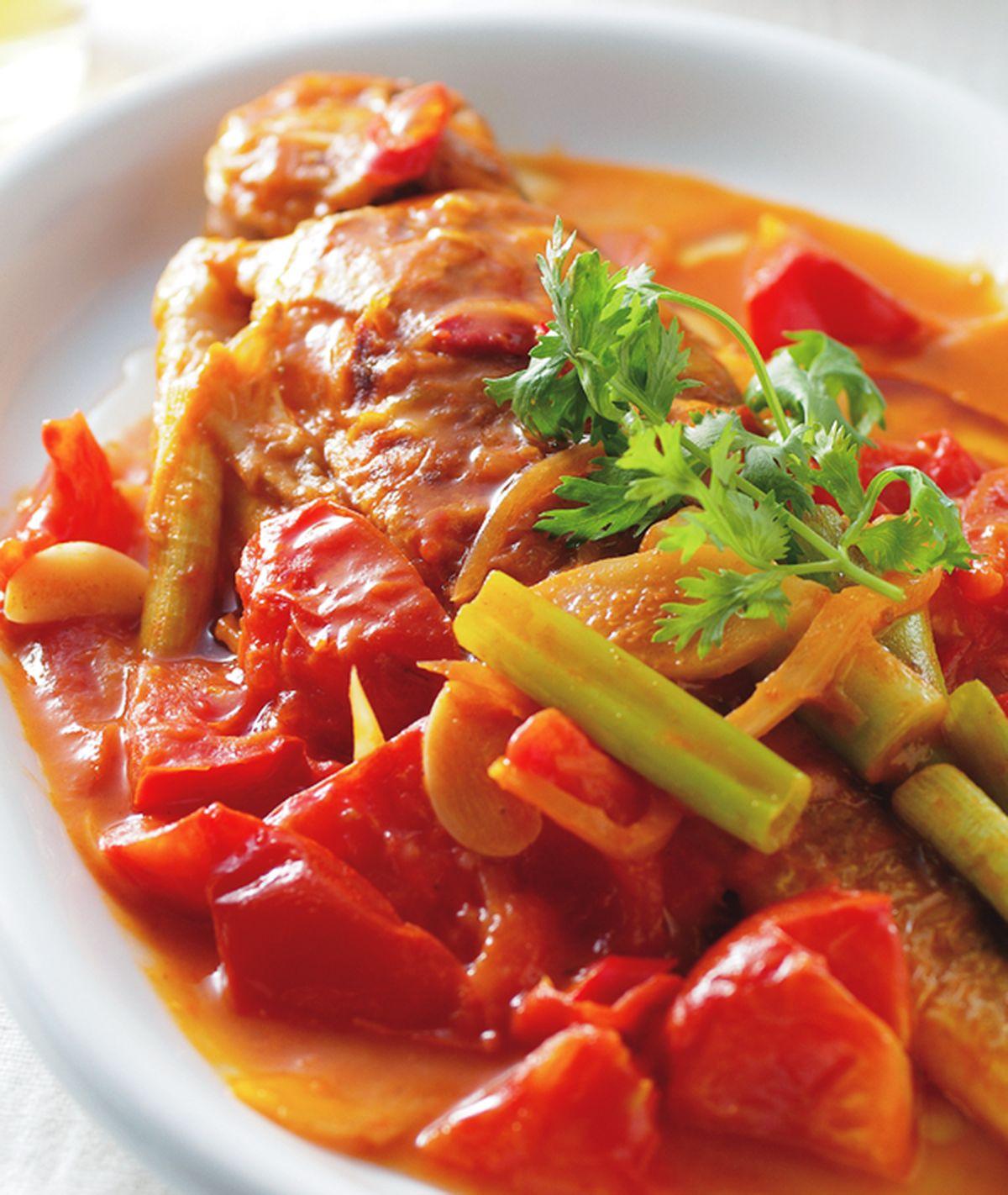 食譜:乾煎茄汁黃魚