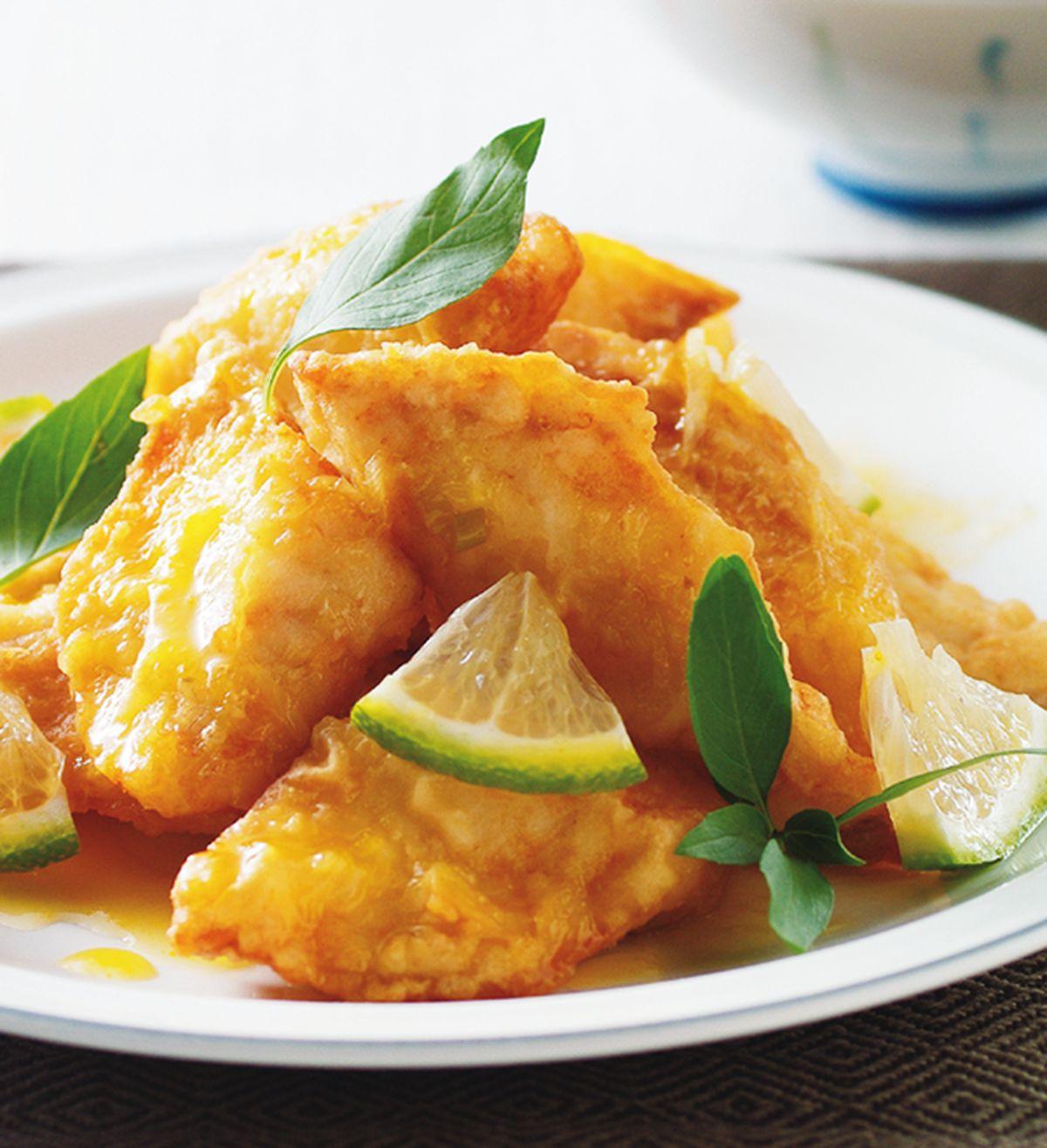 食譜:塔香橙汁魚片