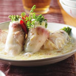 蘆筍魚片捲
