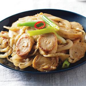 酸菜炒麵腸