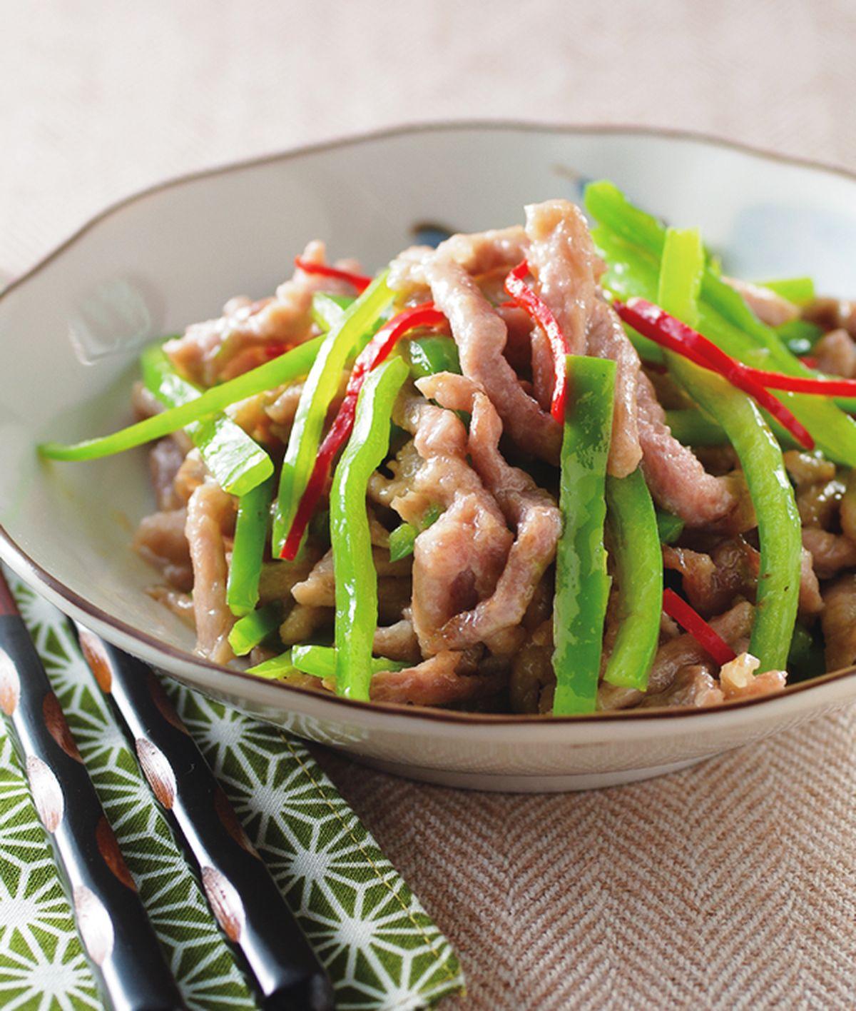 食譜:青椒炒肉絲(3)