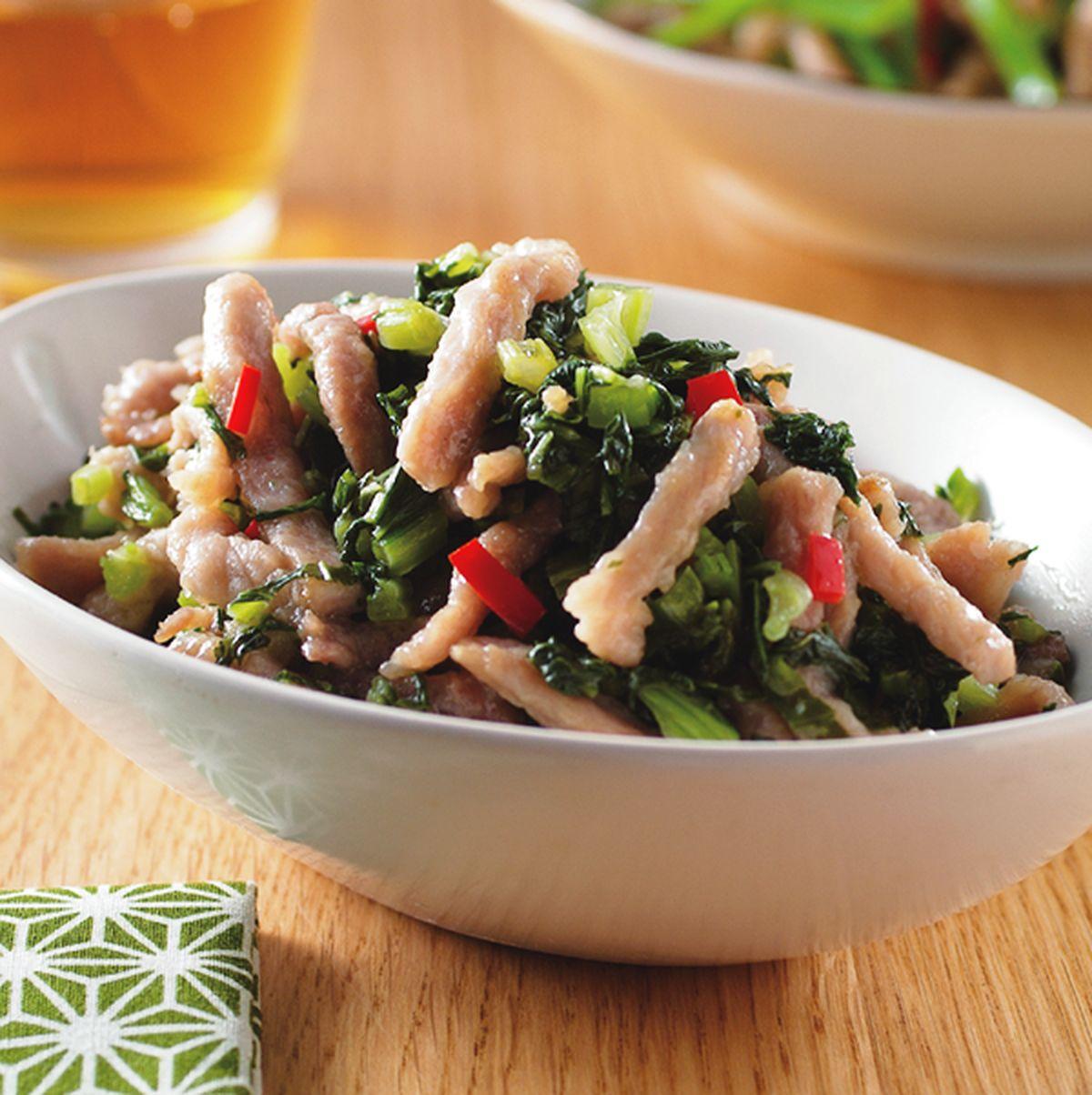 食譜:雪菜炒肉絲