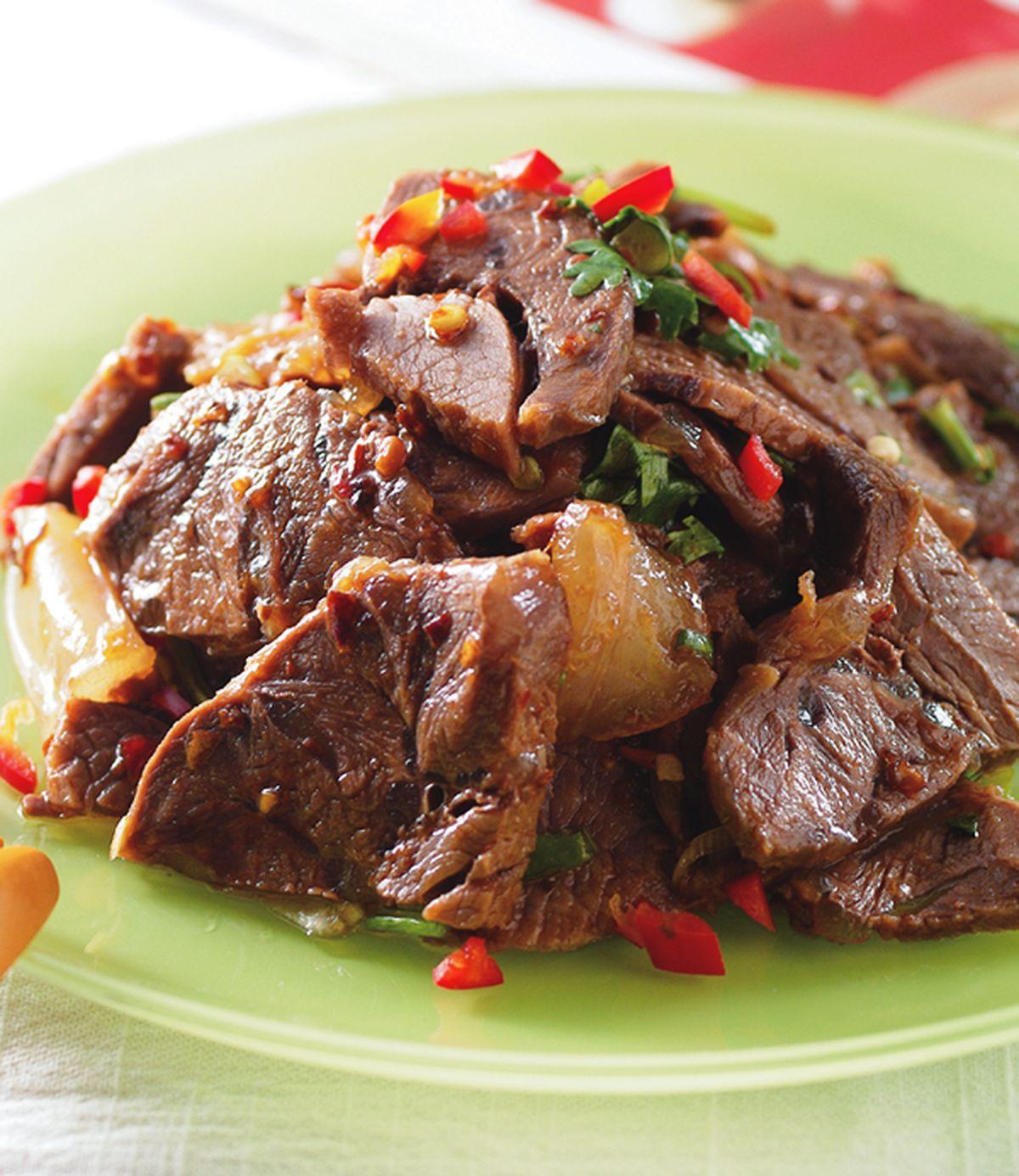 食譜:麻辣牛肉片(1)